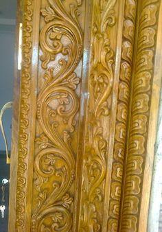 65 Best Ideas For Main Door Frame Design Door Design Images, Home Door Design, Wooden Front Door Design, Wooden Front Doors, Wood Carving Designs, Wood Carving Art, Wood Carvings, Wood Art, Wood Door Frame