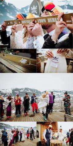 A ski trip meets winter wedding. Emily & Johan's ski wedding in Kitzbühel is one of the most fun weddings you'll see this year. Ski Wedding, Spring Wedding, Wedding Stuff, Dream Wedding, Wedding Rings, Apres Ski Outfits, Winter Wedding Receptions, Winter Weddings, Ski Weekends
