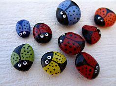 pedras decoradas joaninha - Pesquisa Google