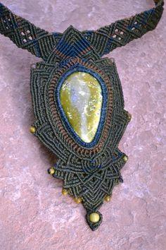 Vert collier déesse / macramé / bijoux macramé / par SpiritYSol
