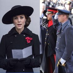 Catherine, William and Harry at the Remembrance Day ceremonies November 13, 2016 🌹#london #uk #royals