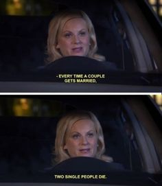 """20 Jokes That'll Make Single People Laugh And Then Immediately Think, """"I'm Lonely AF"""" Parks N Rec, Parks And Recreation, Awkward Flirting, Leslie Knope Quotes, Lito Rodriguez, Female Friendship, Corny Jokes, Single People, Good Wife"""