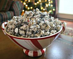 Peppermint – Chocolate – Popcorn – what more could you ask for? Here is a quick and easy snack that is perfect for gift-giving. Package in treat bags or decorative tins to share with teachers, neighbors, and friends…and be sure to keep some to enjoy for yourself! Tip: Remember to remove unpopped kernels before mixing popcorn with other …