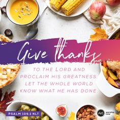 Give thanks to the LORD and proclaim his greatness. Let the whole world know what he has done. –Psalm 105:1 NLT #VerseOfTheDay #Bible