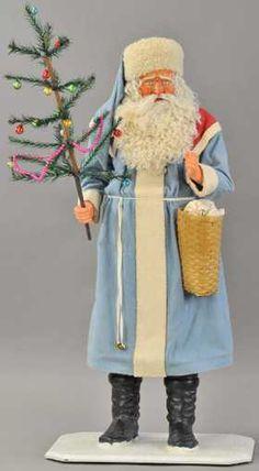 Christmas Sled, Antique Christmas Ornaments, Primitive Christmas, Father Christmas, Blue Christmas, Retro Christmas, Christmas Decorations, Christmas Things, Primitive Crafts