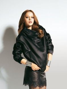 Slouchy Satin Jacket 01/2012 #101B - BurdaStyle