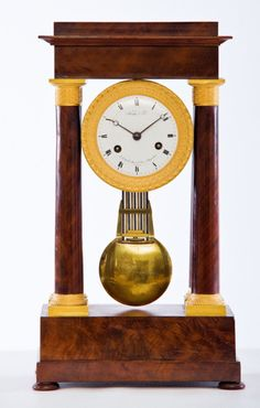 A French portico clock (c. 1830						France