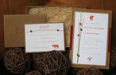 Safari Theme Invitations - nice natural elements