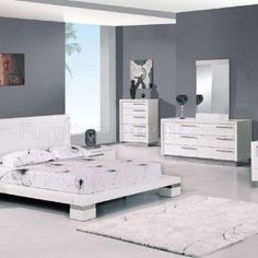 Modern Bedroom Furniture Sets Hall White Cream