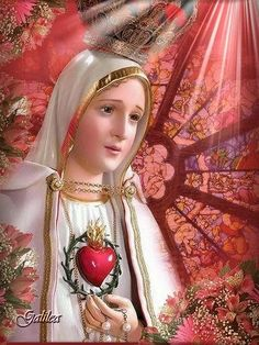 ® Blog Católico Gotitas Espirituales ®: VIRGEN DE FÁTIMA Blessed Mother Mary, Blessed Virgin Mary, I Love You Mother, Lady Of Fatima, Queen Of Heaven, Mama Mary, Christian Devotions, Holy Mary, Madonna And Child