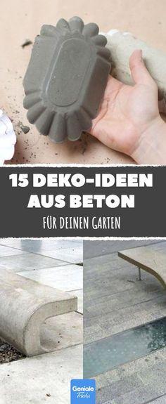 Dank dieser 15 hammerharten Deko-Ideen aus Beton muss kein Garten langweilig aussehen.