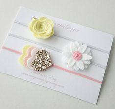 Pasteles/niña fieltro Flores y corazones en capas por MagentaGinger