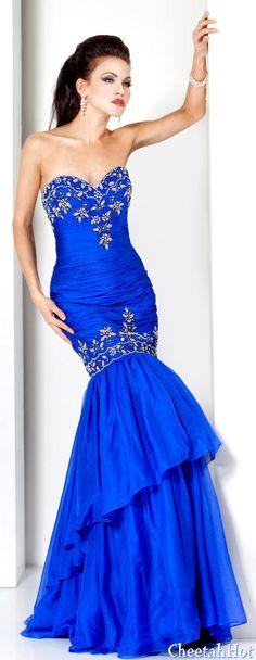 JOVANI - Authentic Designer - Strapless Beaded Mermaid Gown