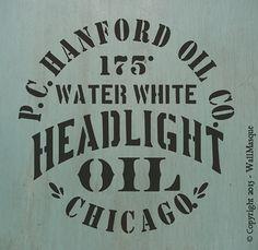 Headlight Oil Stencil by WallMasqueStencilCo on Etsy