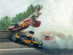 Nascar Crash, Nascar Race Cars, Nascar Wrecks, Real Racing, Auto Racing, Talladega Superspeedway, Late Model Racing, Chevrolet Lumina, Pontiac Grand Prix