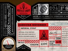 Darkstar November is the first release in Bottle Logic Brewing's Stasis Project (a.k.a. barrel-aged series). Hit the attachment to see a full bottle mockup. My favorite part of this series is the v...
