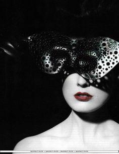 Metal mask.