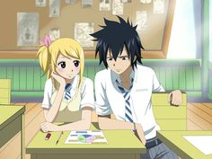 fairy tail lucy and gray | Me hacen bien al alma, enserio