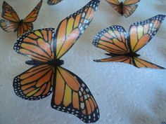 12 Edible Image Wafer Paper Butterflies as pictured above. Perfect for EVERY occasion! Just remove from bag and apply to icing. You can apply to