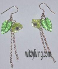 flower chain beaded earrings projects