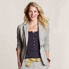 Lands' End Seersucker Blazer