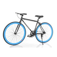 """Lixada High-configuration 26"""" Carbon Steel Single Speed Bike Fixed Gear Bicycle. Color matching front and rear tail fenders. Color matching front and rear anodized alloy wheels. 25"""" Wide chrome plated alloy handle bar. Adjustable and quick release chrome plated seat post."""