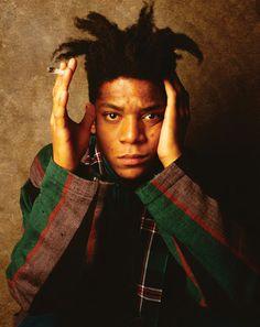 Jean-Michel Basquiat  1960-1988 Artist Left: 1986, New York