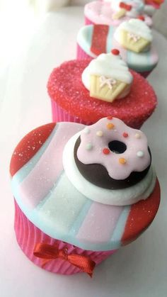 Cupcake with sweet toppings!
