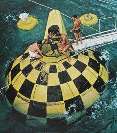 Conshelf sphere habitat, underwater home, ocean sphere, http://yook3.com, Wilfried Ellmer