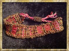 Made this fiber and bead bracelet on Mirrix Tapestry Loom, was really fun.