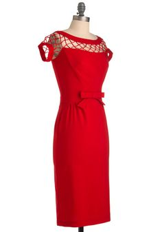 I'd wear this with little white gloves to a Madmen partyyy
