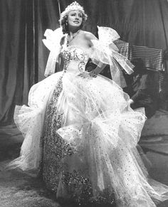 Irene Dunn - in some tulle and sparkly finery. Is it any wonder I grew up wanting to dress-up?