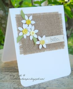 card made entirely with scraps and leftover buttons! ♥