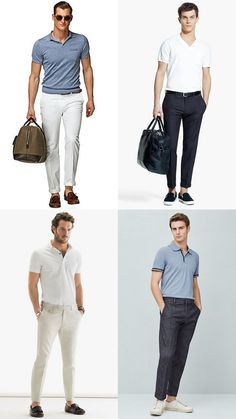Men's Go-To Summer Looks - Polo Shirts with Chino Trousers Outfit Inspiration Lookbook