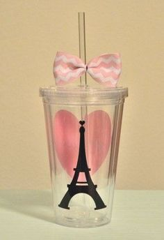 Paris love 16 ounce by SimplyStunningSite Paris Themed Birthday Party, Paris Party, 11th Birthday, Birthday Party Themes, Hangover, Acrylic Tumblers, Quinceanera Party, Ideas Para Fiestas, Sweet 16