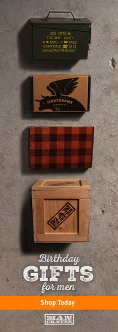 Looking for a memorable Father's Day gift this year? Man Crates delivers curated gift collections for every type of dad. From awesome gifts sealed inside a military ammo can, to amazing DIY project kits, to gifts in real wooden crates that he'll have to p Diy Gifts For Him, Great Gifts For Dad, Best Gifts For Men, Cool Gifts, Awesome Gifts, Man Crates, Wooden Crates, Memorable Gifts, Fathers Day Gifts