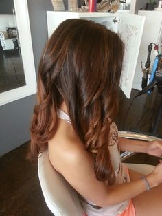 Subtle brown red ombre with subtle highlights