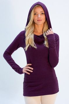 Womens Eco Fashion Cowl Hoodie Organic Cotton Hemp Clothing Canada – Hemp & Company