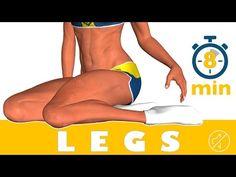 8 dakikada bacak egzersizi - No Music - YouTube