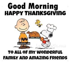 Good Morning Charlie Brown Happy Thanksgiving Quote