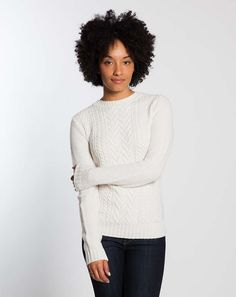 Cable Knit Sweater - Cream : Marine Layer