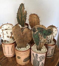 No hay descripción de la foto disponible. Scrap Wood Art, Scrap Wood Projects, Woodworking Projects Diy, Diy Projects, Cactus Craft, Cactus Decor, Crafts To Do, Diy Crafts, Bois Diy