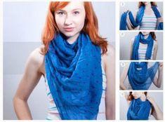 Nudo vaquero, encuentra más opciones para usar tus bufandas en esta época de frío aquí...http://www.1001consejos.com/formas-de-usar-una-bufanda/