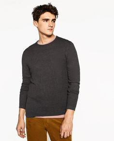 c9d1cdad79 ZARA - MAN - TEXTURED WEAVE SWEATER