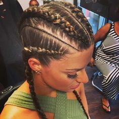 Big and Small Straight Back Cornrows for White Girls