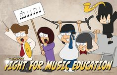 Fight for Music Education poster by Tone Deaf Comics