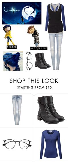 """""""Me in Coraline"""" by moon-and-back-babe123 ❤ liked on Polyvore featuring Pull&Bear, Philosophy di Lorenzo Serafini and Ray-Ban"""