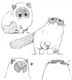 Creature Concept Art, Creature Design, Character Illustration, Illustration Art, Arte Indie, Cat Character, Cute Animal Drawings, Cartoon Art Styles, Cat Drawing