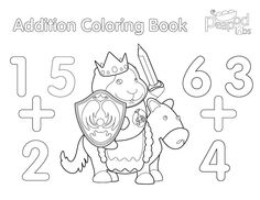 Additional Coloring Book. Awesome for fun and learning numbers. Pinned by The Jenny Evolution.
