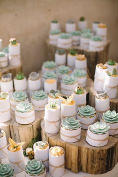 También se usan las formas y colores de los cactus para diseñar cupcakes ricos. #cupcake #sweet